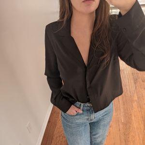 Cropped Black Blouse